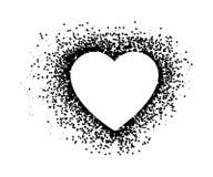 O coração nos pontos projeta Ilustração do coração Amor do logotipo fotografia de stock