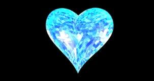O coração quebrado e a ilustração 3d de queda rendem video estoque