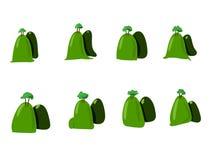 O coração verde é bonito Fotografia de Stock Royalty Free
