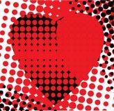 O coração vermelho é preto Imagens de Stock
