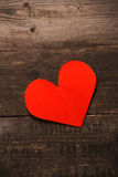 O coração vermelho do papel Imagem de Stock