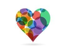 O coração vermelho triangular geométrico emaranhado deu forma à ilustração do molde do gráfico de vetor isolada no fundo branco Imagens de Stock Royalty Free