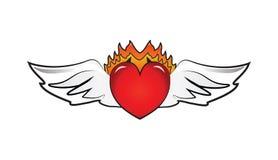 O coração voa o logotipo Fotografia de Stock Royalty Free