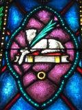 O cordeiro sacrificial & o x28; Jesus& x29; , a Bíblia, e uma palma fotografia de stock royalty free