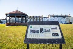 O coreto e o sinal memoráveis, negócio, Kent, Foto de Stock Royalty Free