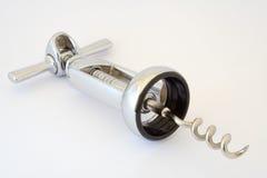 O corkscrew isolado no branco Imagem de Stock Royalty Free