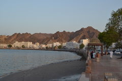 O Corniche em Muttrah, Muscat fotos de stock royalty free