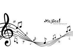 O coro da música nota o fundo abstrato fotos de stock royalty free