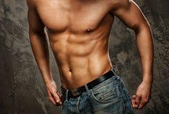 O corpo do homem muscular Imagens de Stock Royalty Free