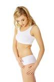 O corpo magro da mulher bonita fotos de stock