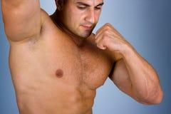 O corpo masculino perfeito Fotografia de Stock Royalty Free