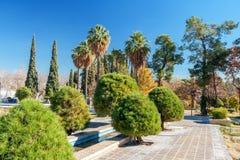 O corredor da entrada no jardim de Eram Imagem de Stock Royalty Free