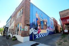 O corredor da fama internacional de Rocha-um-Billy em Jackson, Tennessee fotografia de stock royalty free