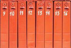 o correio encaixota o fundo Fotografia de Stock Royalty Free