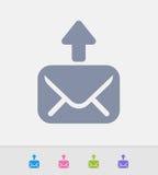 O correio Outbox - ícones do granito ilustração royalty free