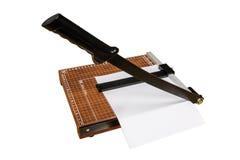 O cortador de papel imagens de stock royalty free