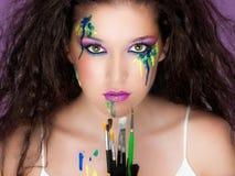 O cosmético compo Imagens de Stock