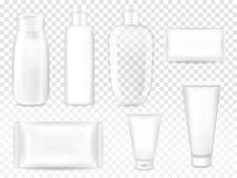 O cosmético empacota a ilustração do vetor 3D ilustração do vetor