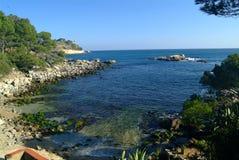 O costline mediterrâneo Foto de Stock Royalty Free
