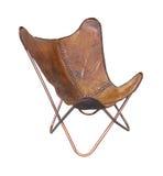 O couro relaxa a cadeira Imagens de Stock