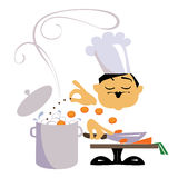 O cozinheiro chefe Foto de Stock