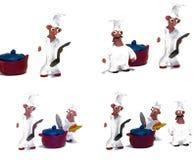 O cozinheiro chefe alegre fêz a argila do ââof Foto de Stock Royalty Free