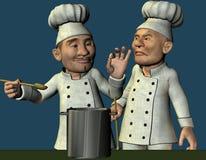 O cozinheiro chefe avaliou o alimento Fotografia de Stock Royalty Free