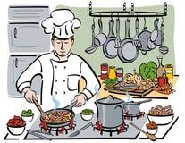 O cozinheiro chefe consumado Fotografia de Stock