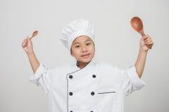 O cozinheiro chefe novo Imagem de Stock Royalty Free