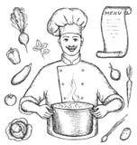 O cozinheiro chefe principal Ilustração Stock