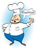O cozinheiro chefe recomenda um prato Foto de Stock Royalty Free