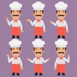 O cozinheiro chefe Shows e indica ilustração royalty free
