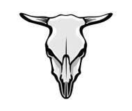 O crânio da vaca ilustração do vetor