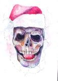 O crânio de Santa ilustração do vetor