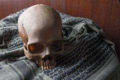 O crânio no símbolo da guerra Fotos de Stock Royalty Free