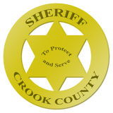 O crachá do xerife com texto Fotografia de Stock Royalty Free