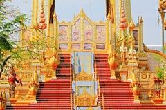 O crematório do rei Bhumibol, Banguecoque, Tailândia fotos de stock royalty free