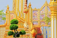 O crematório do rei Bhumibol, Banguecoque, Tailândia foto de stock