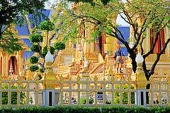 O crematório do rei Bhumibol, Banguecoque, Tailândia imagem de stock