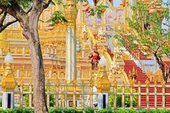 O crematório do rei Bhumibol, Banguecoque, Tailândia fotos de stock