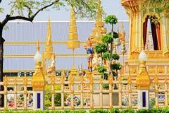 O crematório do rei Bhumibol, Banguecoque, Tailândia imagens de stock