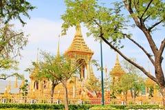 O crematório do rei Bhumibol, Banguecoque, Tailândia fotografia de stock royalty free