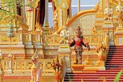 O crematório do rei Bhumibol, Banguecoque, Tailândia imagens de stock royalty free