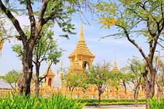 O crematório do rei Bhumibol, Banguecoque, Tailândia fotografia de stock