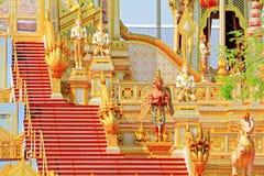 O crematório do rei Bhumibol, Banguecoque, Tailândia imagem de stock royalty free