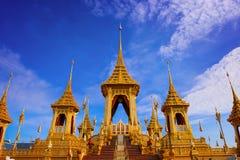 O crematório real de seu rei Bhumibol Adulyadej da majestade fotos de stock
