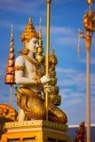 O crematório real de seu rei Bhumibol Adulyadej da majestade foto de stock
