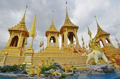 O crematório real dourado o mais bonito no mundo fotos de stock