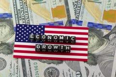 O crescimento econômico do GDP dos E.U. imagens de stock