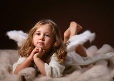 O criança-anjo Imagens de Stock